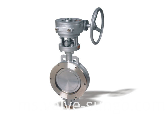 Worm wafer elastic hard seal butterfly valve