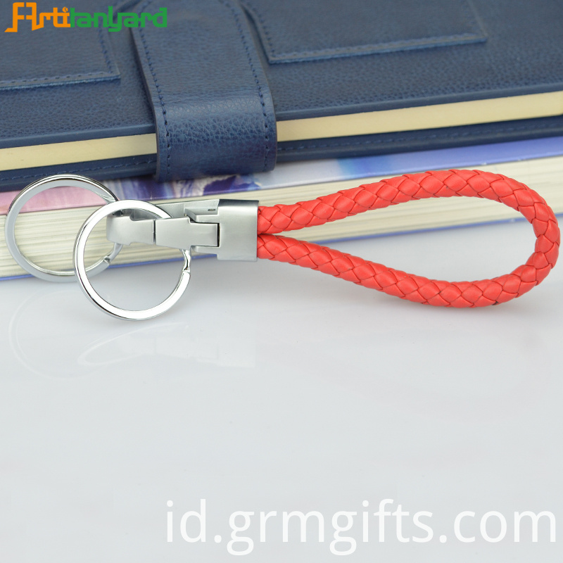 Braided Keychain Leather