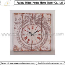 Потертый Chic Часы Home Decor Большие настенные часы