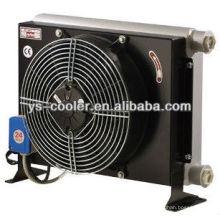 12v / 24v DC alumínio tipo de aleta cooler de óleo com ventilador para bomba de concreto
