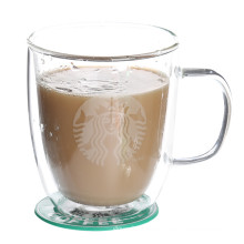 Resistencia al calor claro borosilicato taza de café