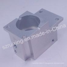 Pièce faite sur commande de usinage de commande numérique par ordinateur pour le bloc en aluminium avec le traitement d'anodisation