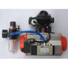 Whole Set Pneumatic Actuator with Limit Switch, Frl, Solenoid Valve etc.