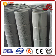 Cartridges for cartridge type dust collector with high efficiency