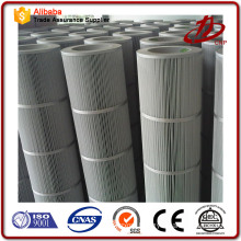 Zinc powder processing pleated carbon filter cartridge