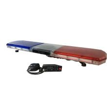 12V 24V Bernsteinrot Blau 200W COB-Lichtleiste Mit Lautsprecher Horn Sirene Hooters Polizeiwagen Dach Schlanker Lichtbalken