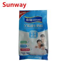 Sachets de poudre de lait en plastique