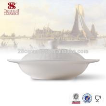 Оптовый популярный набор столов дизайна, керамический суп-пюре из фарфора кости