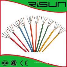 El mejor cable de red de CCA Cat5e UTP del precio con la envoltura colorida