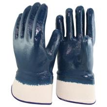 NMSAFETY EN388:2016 industrial heavy duty blue nitrile glove