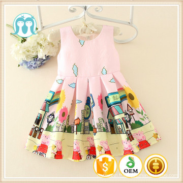 carton caractères vêtements mignons modèles robes cochon imprimé pour les enfants belle rose vêtement adorable vêtements