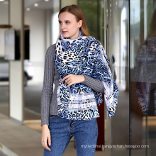 Fashion women soft cotton animal Printed leopard Viscose lady Scarf