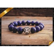 Ensemble de braguettes Lapis Lazuli, Bracelet de mode en gros, Bracelet en pierres précieuses (CB056)