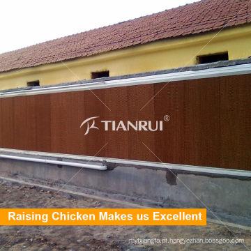 Frango fazenda ambiente controle sistema avícola almofada refrigerar de água