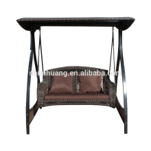 Hot selling metal vintage hanging swing chair 2 seater with canopy courtyard outdoor furniture