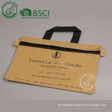 Cheap custom a4 document zipper bag with printing logo