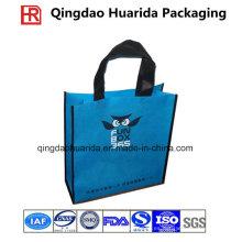 La bolsa de asas laminada no tejido respetuosa del medio ambiente de las compras con tamaño de encargo