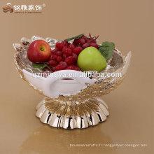 Résine de forme de cygne Réservoir de fruits pour ornements maison