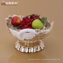 форма лебедь полимерного материала с фруктами для домашнего украшения