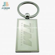 Bester Verkaufs-Legierungs-Großverkauf-Laser-Stich-Rechteck-Metallfreier raum Keychain
