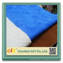 100% Polyester Microfiber Suede désossé pour vêtement