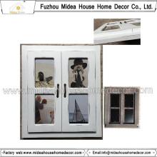 Weiße Wand-Foto-Rahmen-Collage