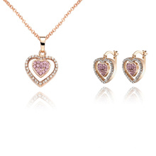 Halo Hear 925 Sterling Silver Jewelry Set for Lover