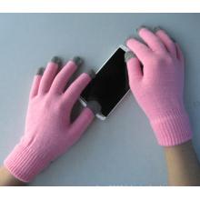 Gant d'écran tactile de cinq doigts de polyester de liner de polyester de 10g