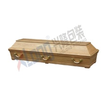 Satin Interior Oak Veneer Full Open Casket