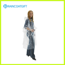Cheap Clear Women′s Fashion PVC Rainwear (Rvc-093)