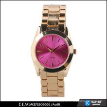Reloj de la pulsera de la mujer del color del oro