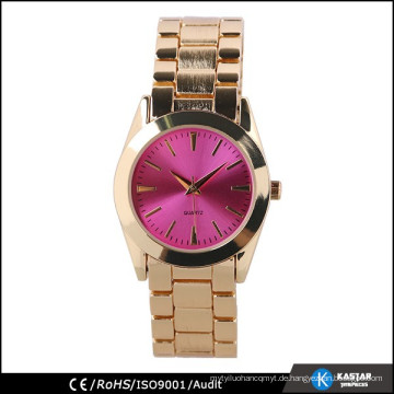 Goldfarben womans Armbanduhr