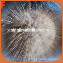 mink fur pompoms for hat/keychain/shoe