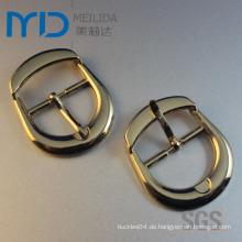 Hochwertiges Gold überzogene Metallgürtel-Pin-Wölbung