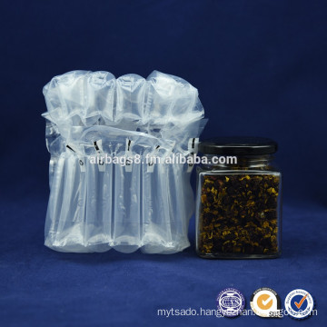 Low cost Inflatable Air Column Bags for cushion protective packaging glass bottle in transportation process
