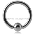 Titanium Ball Closure Ring Fixed Bead Ball
