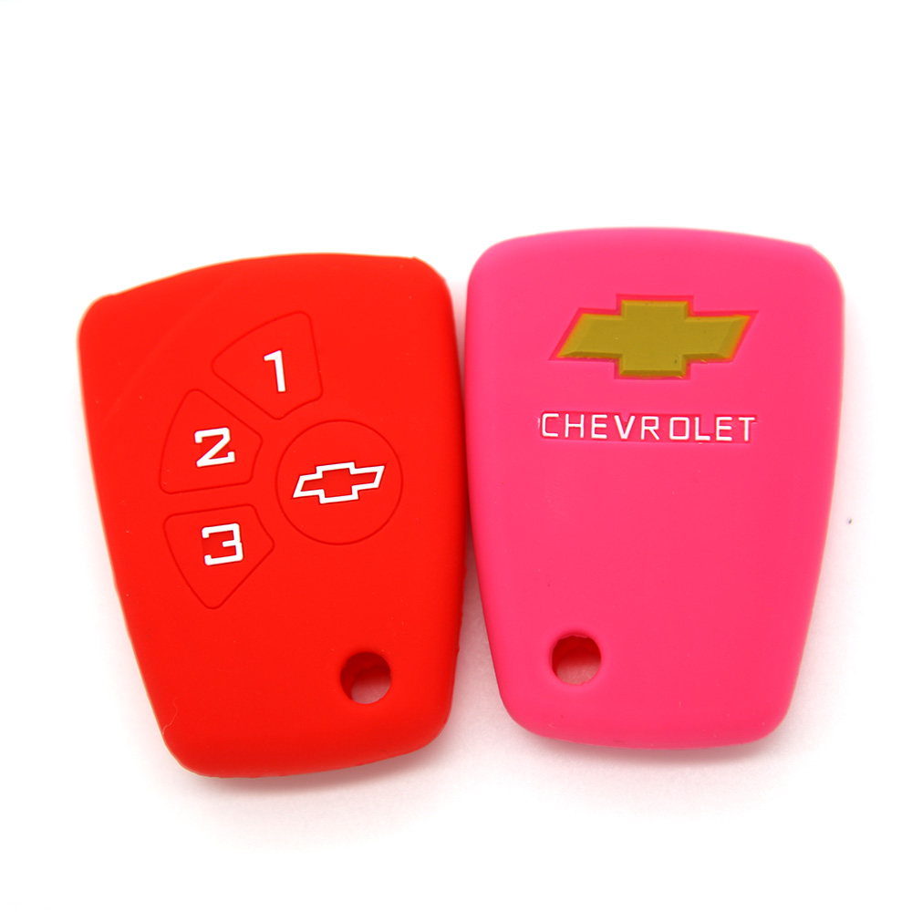 Chevrolet Silicon Key Cover 4 Buttons