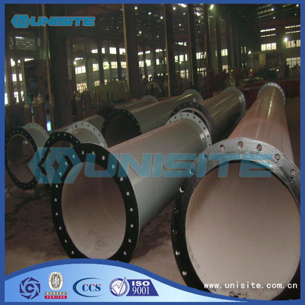 Exhaust Straight Steel Pipe With Flange
