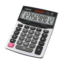 Pocket size Dual power Desktop 12 digit office calculator with aluminum panel solar calculator