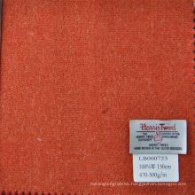 orange color Harris tweed fabric for suit