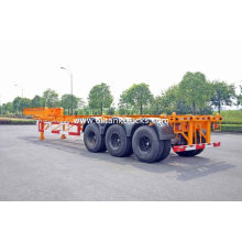 Steel Tank Container Trailer Chassis / 40 Ft Gooseneck Trailer 3 Axles