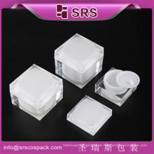China fabricante Praça de ângulo reto forma de embalagem de creme para cuidados com a pele, Plastic Cosmetic Jar