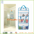 Quick Dry Grey Mesh Shower Tote Portable Hanging Bathroom Accessory Organizer with 8 pockets