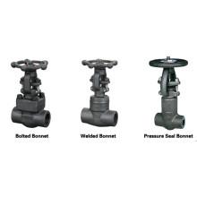 GB Estándar 800 Lbs A105 Válvula de compuerta de acero forjado