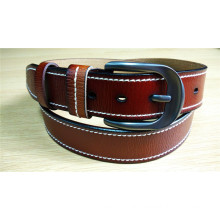 New Fashion Men Leather Belt with Edge Stitch