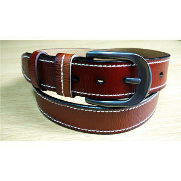 New Fashion Men Leather Belt with Edge Stitch