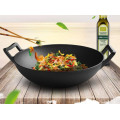 14 Inch Black Cast Iron Wok