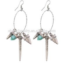 Новые модные женские дешевые богемские простые овальные бисерные серьги Tassel SSEH009