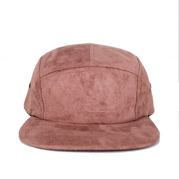 hot sale 5 panel hip hop suede camper hat