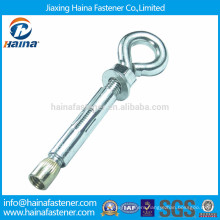 Made in China zinc plated expansion anchor with eye bolt,anchor eye bolt